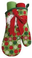 Design Imports Snowflake Dots Oven Mitt & Dishtowel Gift Set