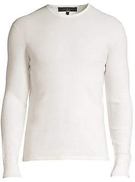 Rag & Bone Men's Davis Extrra Fine Merino Wool & Linen-Blend Sweater