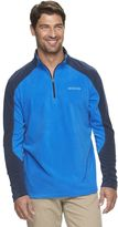 Columbia Men's Trailend Classic-Fit Colorblock Omni-Shade Microfleece Quarter-Zip Pullover