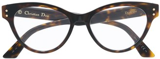 Christian Dior Cat-Eye Logo Glasses