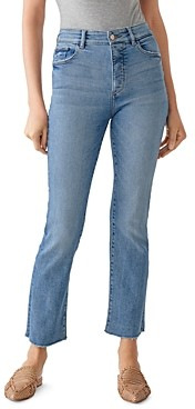DL1961 Mara Straight Ankle Jeans in Crosswall