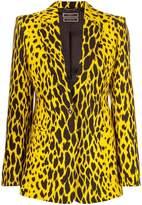 Versace animal print blazer