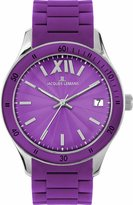 Jacques Lemans Rome Sports 1-1623K 37mm Stainless Steel Case Purple Silicone Mineral Women's Watch