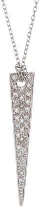 Ron Hami 14K White Gold Pave Diamond Spike Pendant Necklace - 0.05 ctw