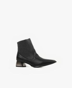 All Black Sock-It Booties Women's Shoes