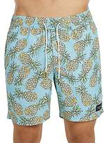 Barney Cools Amphibious Pineapple Print Swim Trunks