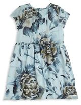 Burberry Little Girl's & Girl's Peony Rose-Print Silk Dress
