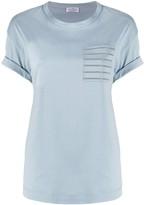Brunello Cucinelli patch-pocket beaded T-shirt