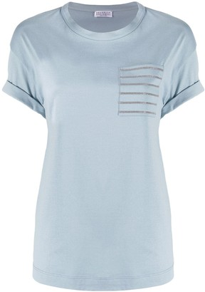 Brunello Cucinelli patch-pocket beaded T-shirt