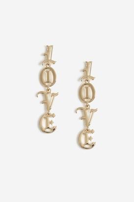 Topshop Love Drop Earrings