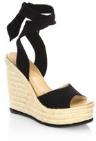 Paul Andrew Lulea Leather Espadrille Wedge Sandals