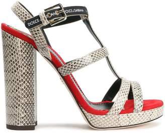 Dolce & Gabbana Ayers Platform Sandals