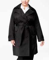 London Fog Plus Size Belted Raincoat