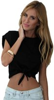 BS Tech Casual Women's Solid Short-sleeved Crop Top Vest