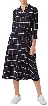 Hobbs London Hester Windowpane Shirt Dress