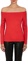 L'Agence WOMEN'S STRETCH-JERSEY OFF-THE-SHOULDER TOP