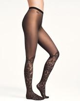 Leg Avenue Vintage Seams Black Cuban Heel Seamed Stockings Lace Top Nude