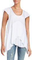 Free People Mary Anne Ribbed Layer Top