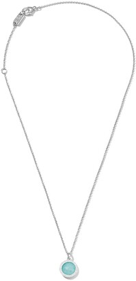 Ippolita Sterling silver Lollipop turquoise and diamond mini pendant necklace