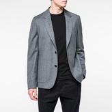 Paul Smith Men's Mid-Fit Grey Marl Wool Flannel Blazer
