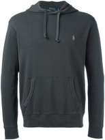 Polo Ralph Lauren embroidered logo hoodie - men - Cotton - S