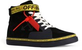 Off-White Off White Suede Vulcanized High-Top Sneakers
