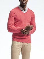 Banana Republic Todd & Duncan Cashmere Vee Pullover