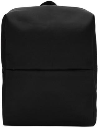 Côte and Ciel Black Eco Yarn Rhine New Flat Backpack