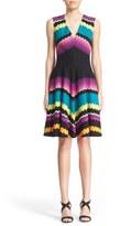 Missoni Stripe V-Neck Wool Blend Knit Dress