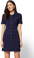 New York & Co. Cotton Shirtdress - Solid