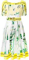 Samantha Sung Sailboat print belted dress