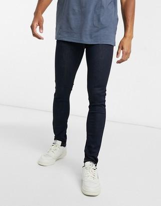 Topman spray on jeans in raw blue
