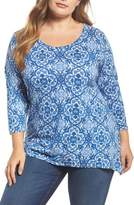 Lucky Brand Tile Print Top