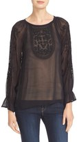 Joie Metta Embroidered Peasant Blouse