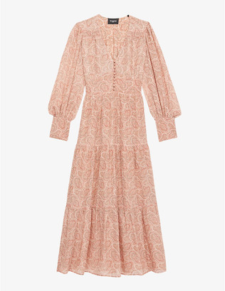 The Kooples Paisley-print woven maxi dress