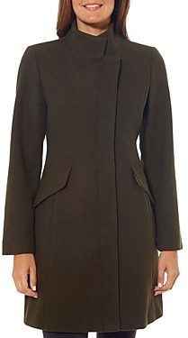 Vince Camuto Asymmetric Stand Collar Coat