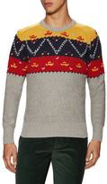 Michael Bastian Cashmere Hand Knit Fairisle Sweater