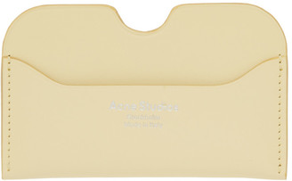 Acne Studios Yellow Logo Card Holder