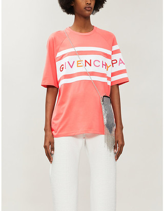 Givenchy Brand-embroidered cotton-blend jersey T-shirt