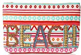 Ale By Alessandra 'ale by alessandra Women's Beach and Beyond Hand Embroidered Beaded Clutch