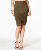 Material Girl Juniors' Faux-Suede Midi Skirt, Only at Macy's