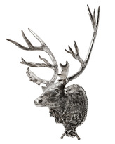 Eichholtz Deer Head Lodge Antique Silver