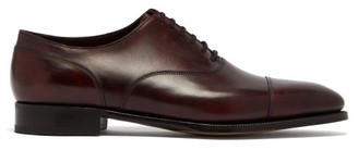 John Lobb Alford Museum Leather Oxford Shoes - Mens - Burgundy