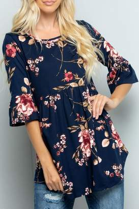 Sweet Lovely Floral Babydoll Tunic