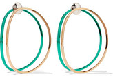 Delfina Delettrez 18-karat Gold Enamel Earrings - one size