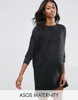 Asos Sweater Dress in Knit with Ripple Stitch Sleeves