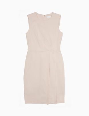 Calvin Klein Drape Front Sleeveless Sheath Dress