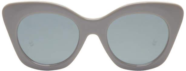 Thom Browne Grey TB 508 Cat-Eye Sunglasses