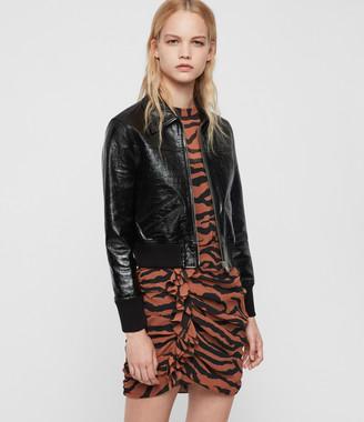 AllSaints Pascao Ali Leather Bomber Jacket
