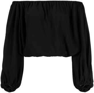 FEDERICA TOSI Off Shoulder Cropped Blouse